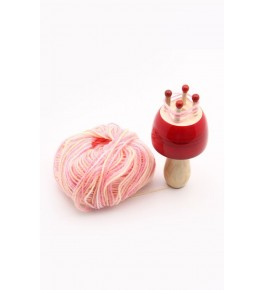 Traditional Channapatna Wooden Toy Of Woolen Stand Designed For Playing, Decorating Purpose