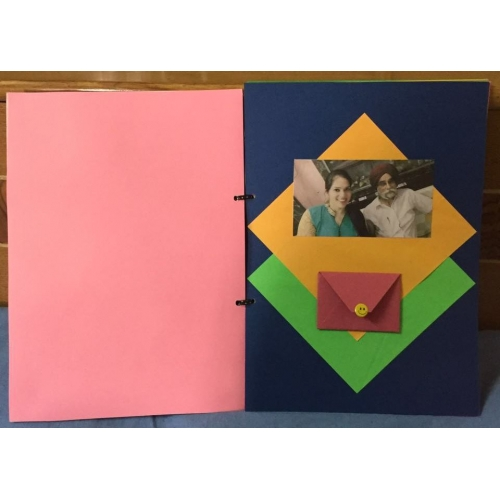 Handmade photo scrapbook, 10 pages
