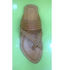 Elegant Handicraft Trendy Look Kolhapuri Chappals Design In Dark Brown Colour For Women