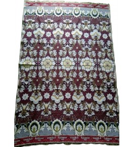 100% Cotton Premium Solapur Chaddar In Beautiful Red Colour Floral Pattern For Room Decor