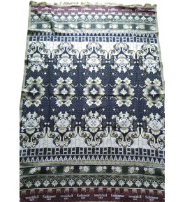 100% Cotton Premium Solapur Chaddar In Navy Blue Floral Pattern For Room Decor
