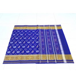 Gorgeous Handloom Dark Blue Colour With Zari Border Rajkot Patola Saree Of Gujarat For Women
