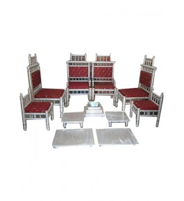 Designer Beautiful Red Colour Marriage Sitting Set for Wedding
