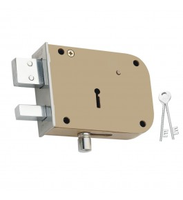 Beautiful Double Bullet Aligarh Lock with 2 Keys for Home Security