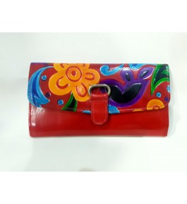 Pure Soft Colourful Santiniketan Leather Wallets for Women