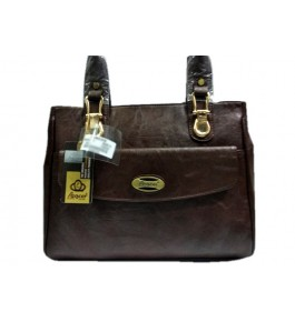 Kanpur Leather Premium Stylish Hand Purse in Brown Color for Women/Girls