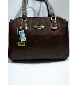Kanpur Leather Premium Stylish Brown Hand Bag for Women/Girls