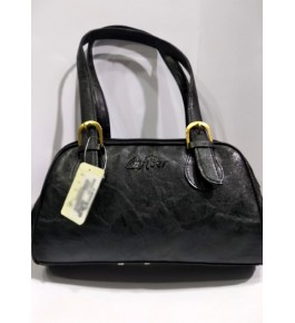 Kanpur Leather Premium Stylish Black Hand Bag for Women/Girls