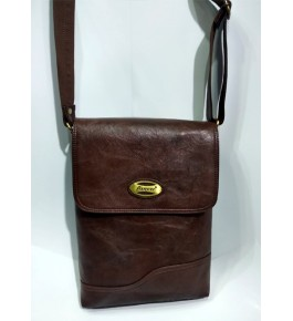 Kanpur Leather Premium Stylish Brown Sling Bag