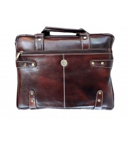 Kanpur Leather Premium Rustic Red Folder Bag