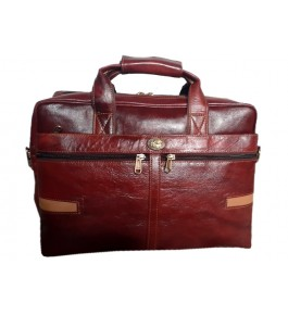 Kanpur Leather Premium Dark Brown Laptop Bag