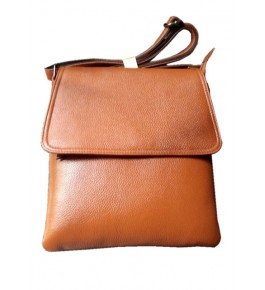 Kanpur Leather Premium Stylish Brown Color Sling Bag