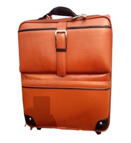 Kanpur Leather Premium Brown Color Travel Trolley Bag