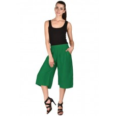 MS Bottom Trendy Green Rayon Culottes For Girls & Women