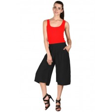 MS Bottom Black Rayon Culottes For Girls & Women