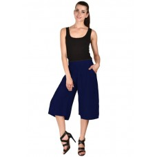 MS Bottom Blue Rayon Culottes For Girls & Women
