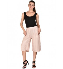 MS Bottom Stylish Pink Rayon Culottes For Girls & Women