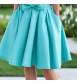 Women's Crepe Skirt With Bow