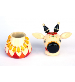 Authentic Handmade Etikoppaka Wooden Toy Of Beautiful Nandhi Box
