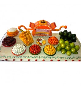 Etikoppaka Toys Wooden Traditional Fruit Tray Set