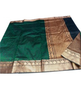 Banarasi Pure Katan Saree with Attached Blouse for Women