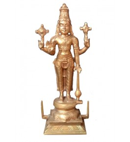 Antique Standing Lord Vishnu Swamimalai Bronze Icons
