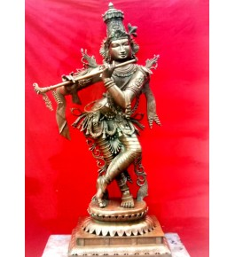Lord Krishna with Flute Swamimalai Bronze Icons