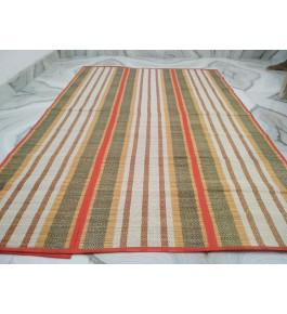 Alluring Handmade Natural Fibre Multi Colour Madurkathi Folding Mat For Daily Use