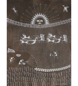Embellishing Natural Handicraft Padding Farming Theme Warli Painting For Decoration Person