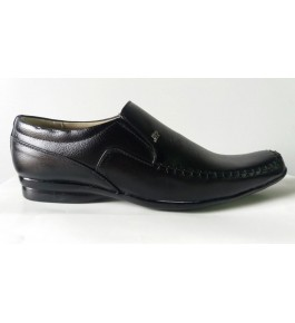 Formal Black Leather Shoes For Men By M/S Ganga International