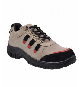 Brown Leather Safety Shoes For Men By M/S Ganga International