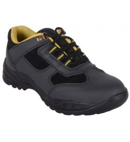 Leather Safety Grey Shoes For Men By M/S Ganga International