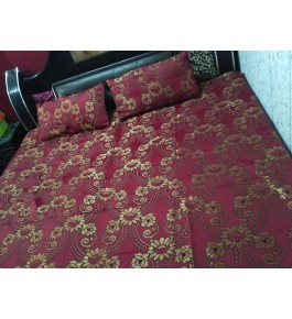 BhaiJi's Attractive Golden Thread Weaved Bedsheet