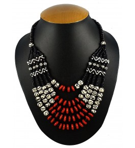 Aradhya Five Layer Designer Nagaland  Beads Necklace For Women & Girls