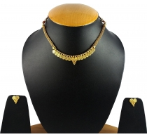Aradhya Traditional Golden Temple Coin Necklace Set For Women