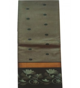 Handcrafted Olive Green Colour Kasuti Embroidery Cotton Saree for Women