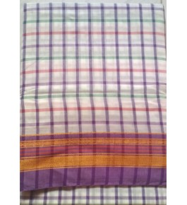 Beautiful Simple Colour Kasuti Embroidery Cotton Saree for Women