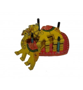 Varanasi Wooden Lacquerware & Toys  Decorative Camel Shape Tea Coaster