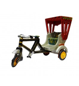 Varanasi Wooden Lacquerware & Toys Decorative Rickshaw Showpiece
