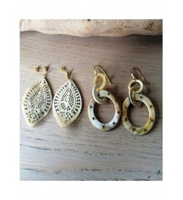 Handmade Drop Shaped Horn Earrings For Women By Humran Export