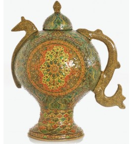 Authentic Kashmir Paper Mache Samovar For Showpiece