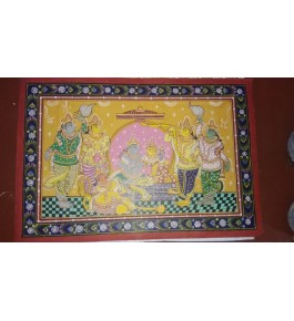 Alluring Handicraft Orrisa Pattachitra Colourful Painting Of Ramayana Scene For Wall Decoration