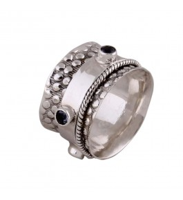 Shree Jaipur Silver Lolite  Stone Ring