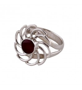 Shree Jaipur Silver Ruby Stone Ring