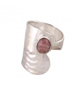 Shree Jaipur Silver Rhodonite Stone Ring