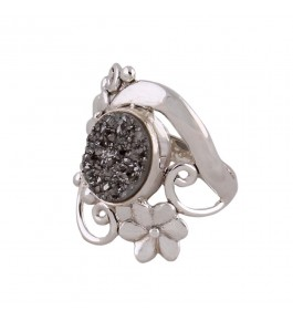 Shree Jaipur Silver Druzy Stone Ring