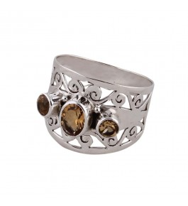 Shree Jaipur Silver Citrine Stone Ring