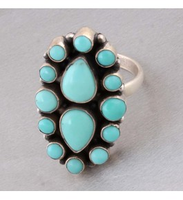 Shree Jaipur Silver Sonoran Turquoise Stone Ring