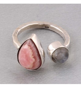 Shree Jaipur Silver Rainbow Moonstone Ring