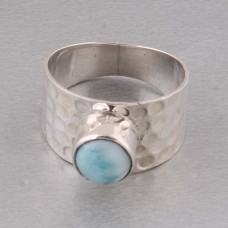 Shree Jaipur Silver Larimar Stone Ring